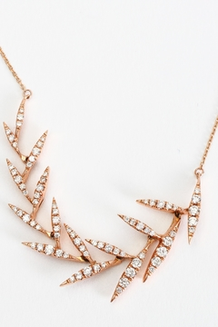 Fox and Beaux Diamond Leaf Necklace - Alternate List Image