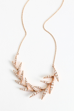 Fox and Beaux Diamond Leaf Necklace - Product List Image