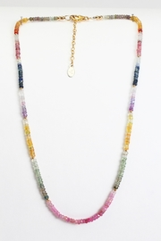 Fox and Beaux Multicolored Sapphire Necklace - Front cropped
