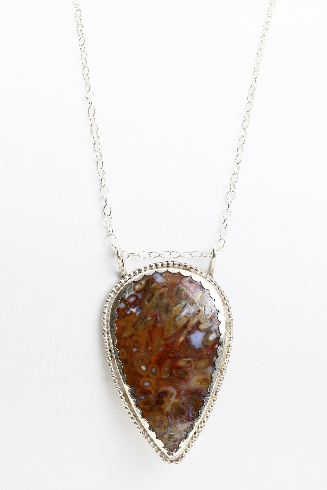 Fox and Beaux Palm Root Agate Necklace - Front Full Image