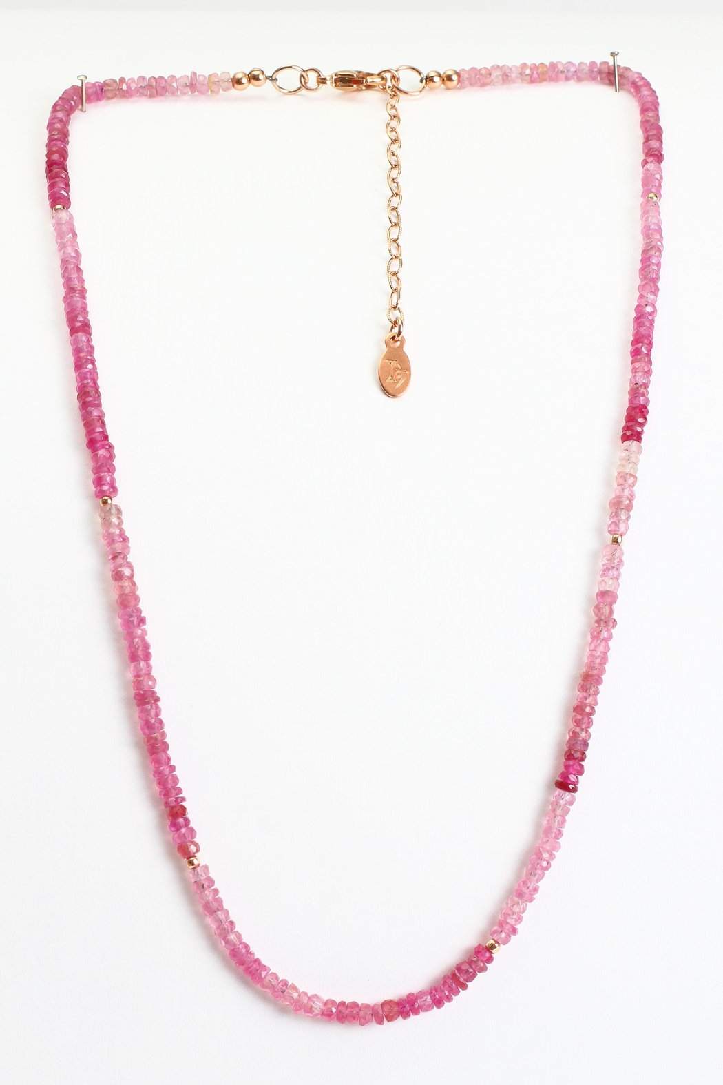 Fox and Beaux Pink Sapphire Necklace - Main Image