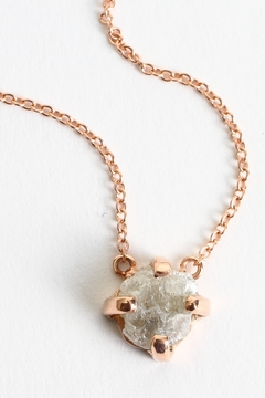 Fox and Beaux Raw Diamond Necklace - Alternate List Image