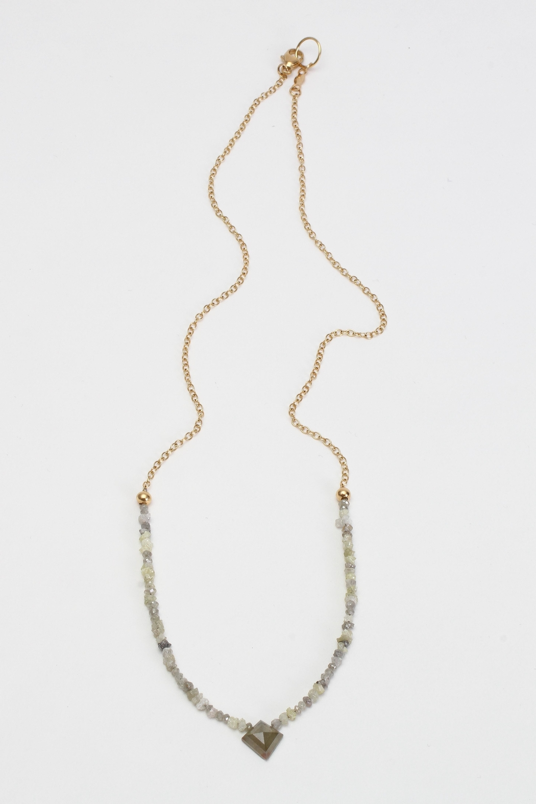 Fox and Beaux Raw Diamond Necklace - Main Image