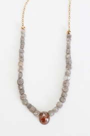 Fox and Beaux Raw Diamond Necklace - Front full body