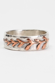 Fox and Beaux Silver & Copper Fern Ring - Product Mini Image