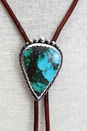 Fox and Beaux Turquoise Bolo Tie - Front full body