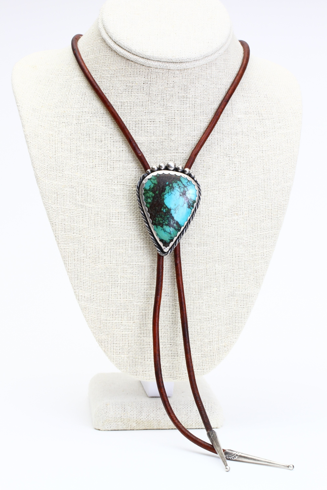 Fox and Beaux Turquoise Bolo Tie - Main Image
