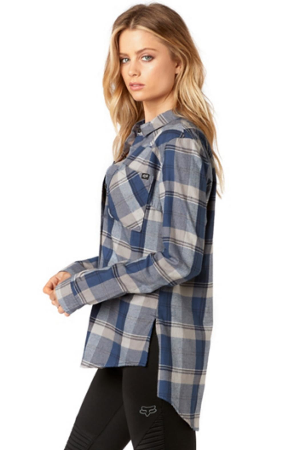 Fox Racing Flown Flannel - Side Cropped Image
