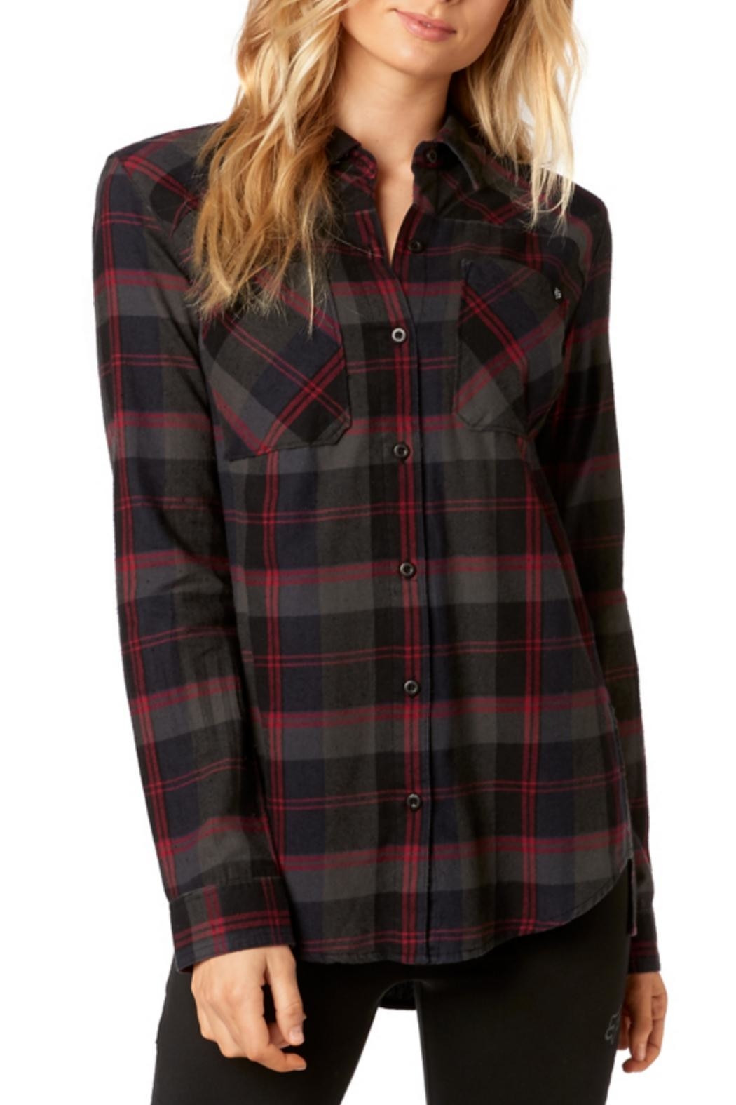 Fox Racing Flown Flannel - Front Cropped Image