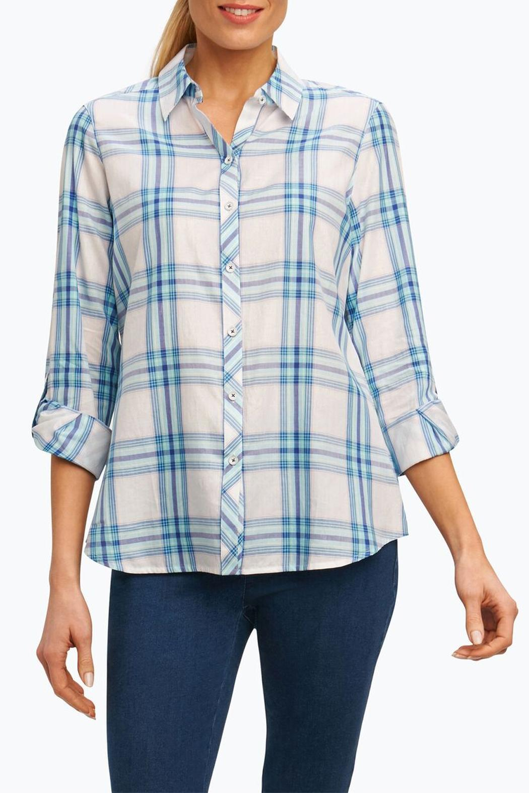 Foxcroft Big Plaid Shirt - Front Cropped Image