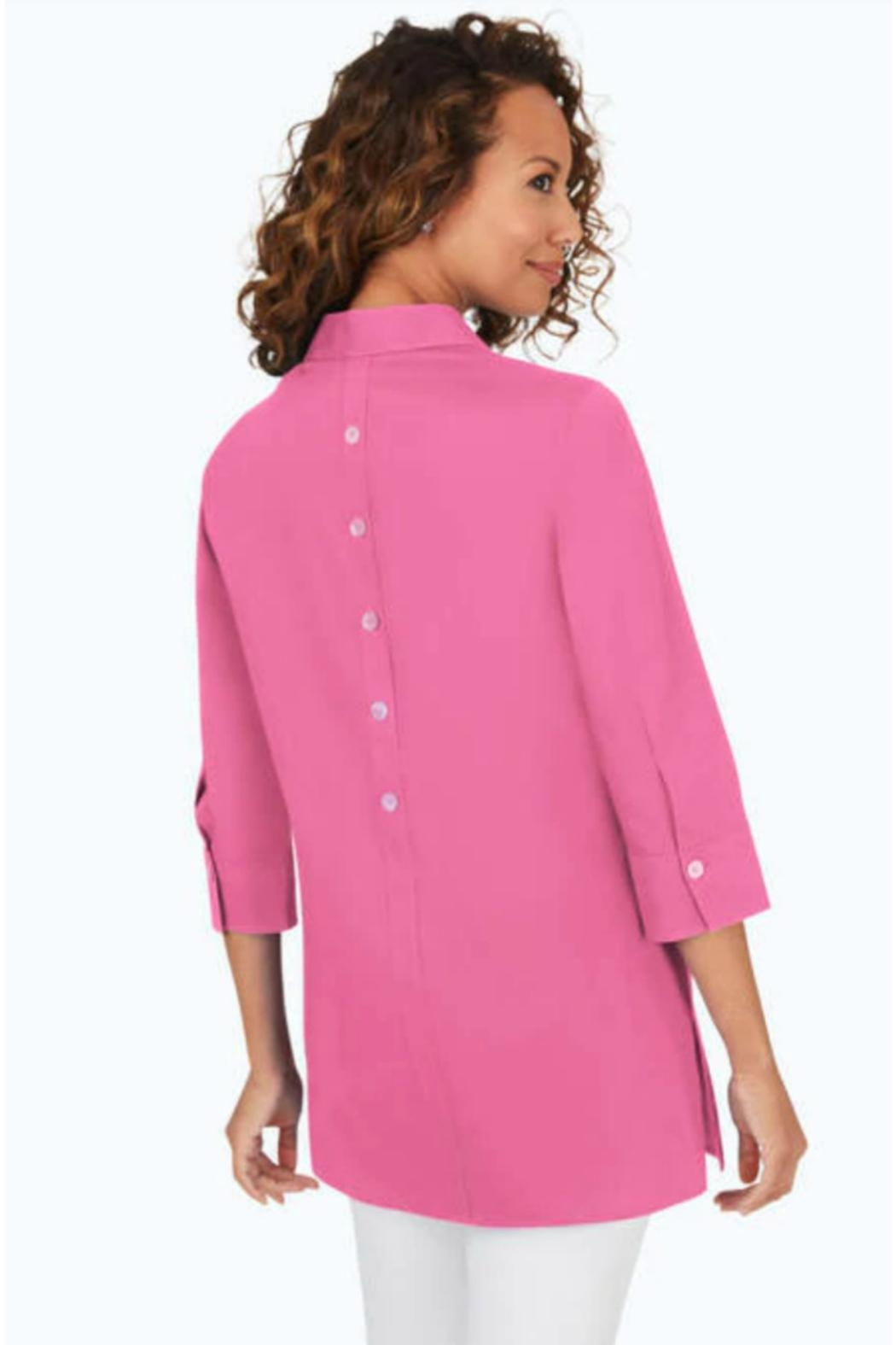 Foxcroft Button Detail Shirt - Front Full Image