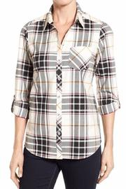 Foxcroft Desert Herringbone Plaid - Product Mini Image