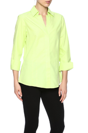 Foxcroft Honeydew Button Up Blouse - Product Mini Image
