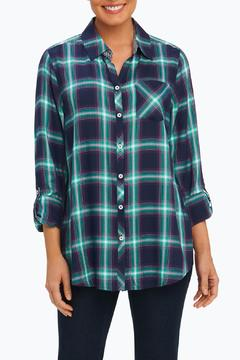 Foxcroft Plaid Relaxed Shirt - Product List Image
