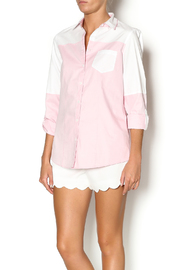 Foxcroft Roll Tab Solid Blouse - Product Mini Image