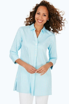 Foxcroft Sky Stripe Tunic - Product List Image