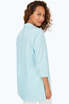 Foxcroft Sky Stripe Tunic - Alternate List Image