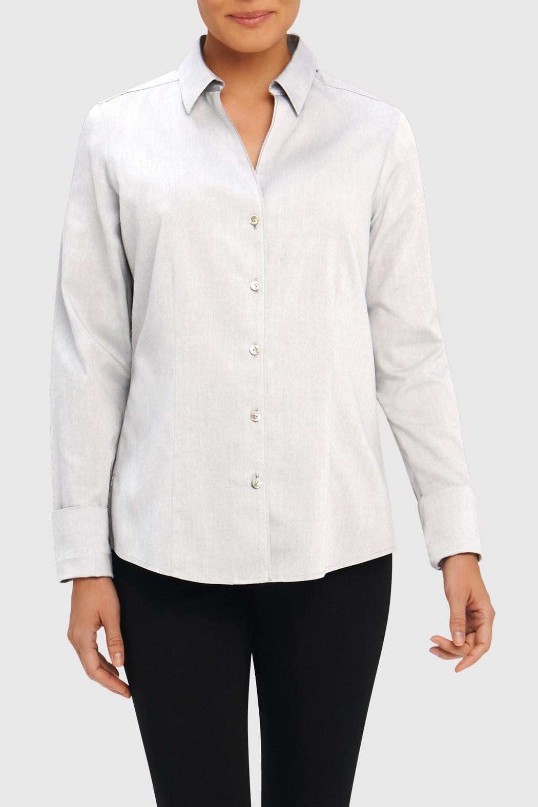 Foxcroft wrinkle free shirt from new york by ruthie 39 s run for How do wrinkle free shirts work