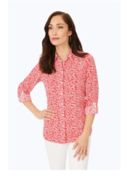 Foxcroft Zoey Cherry Print Top - Product Mini Image