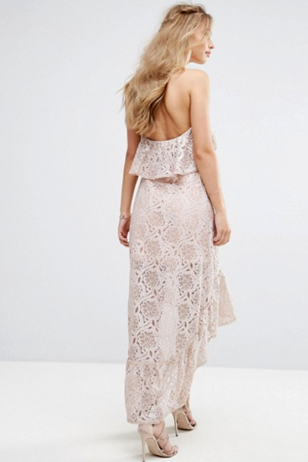 Foxiedox Berry Halter Dress - Back Cropped Image