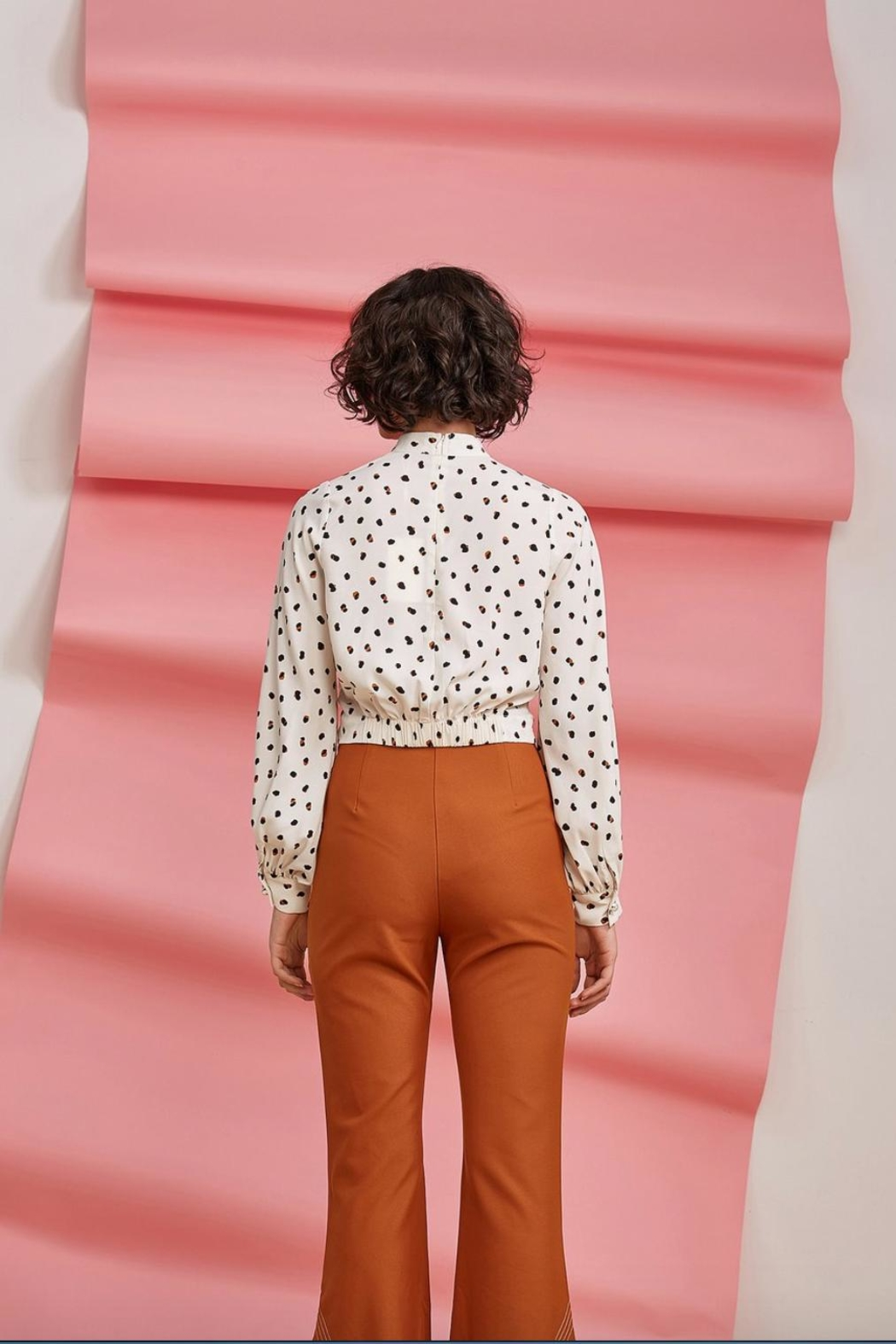 Foxiedox Dorothea Crop Blouse - Side Cropped Image