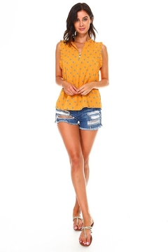 Miley and Molly Foxy Mustard Blouse - Alternate List Image
