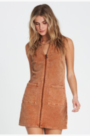 Billabong Foxy Zip Corduroy Mini Dress - Product Mini Image