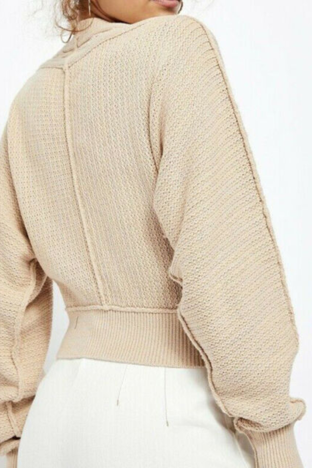 Free People FP Cardigan in Soft Pink - Front Full Image