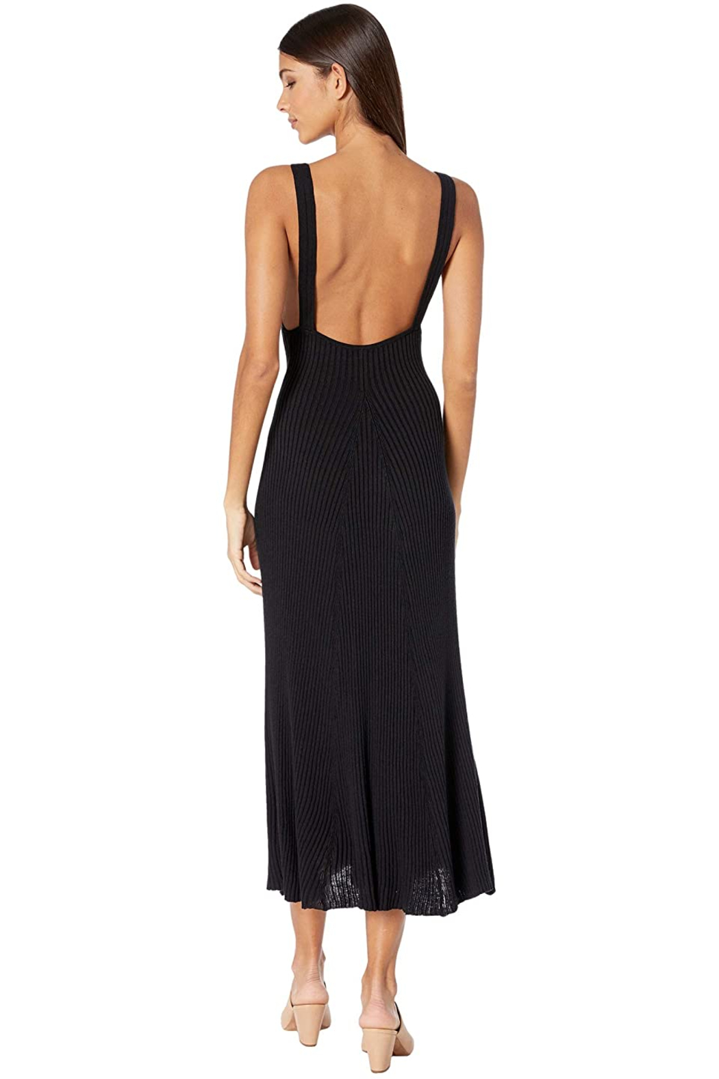 Free People Sweet Slip Dress in Black - Side Cropped Image