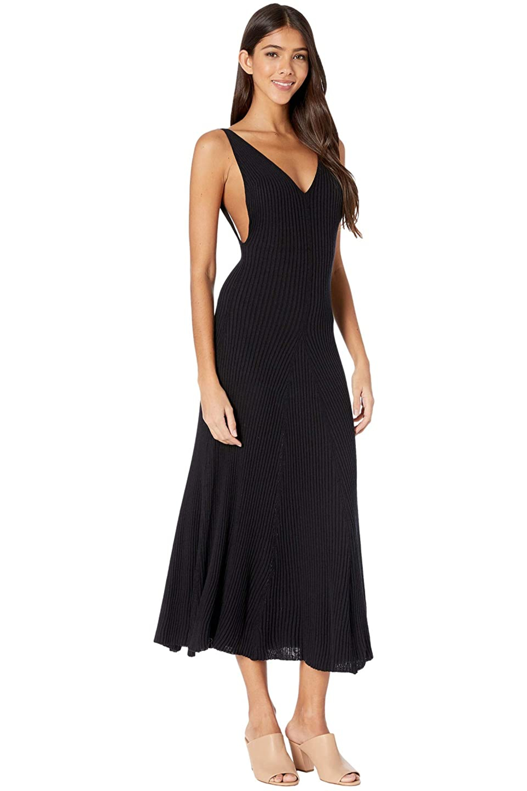 Free People Sweet Slip Dress in Black - Front Full Image