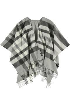 Fraas Grey Plaid Ruana - Alternate List Image
