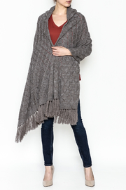 Fraas Hooded Wrap Sweater - Product Mini Image