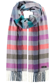 Fraas Ombre Check Denim Scarf - Product Mini Image