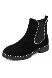 Seven Dials Frabric Stud Bootie - Product Mini Image