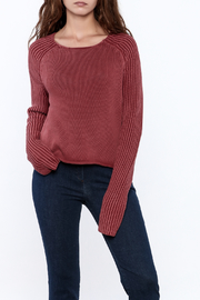 frame Cropped Berry Sweater - Product Mini Image