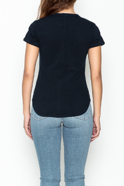 FRAME Denim Navy Ringer Tee - Back cropped