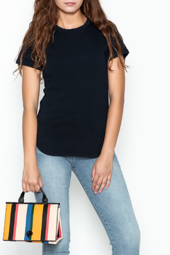 Shoptiques Product: Navy Ringer Tee