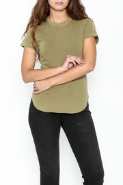 FRAME Denim Sage Green Tee - Front cropped