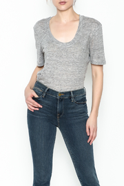 FRAME Denim Scoop Tee - Front cropped