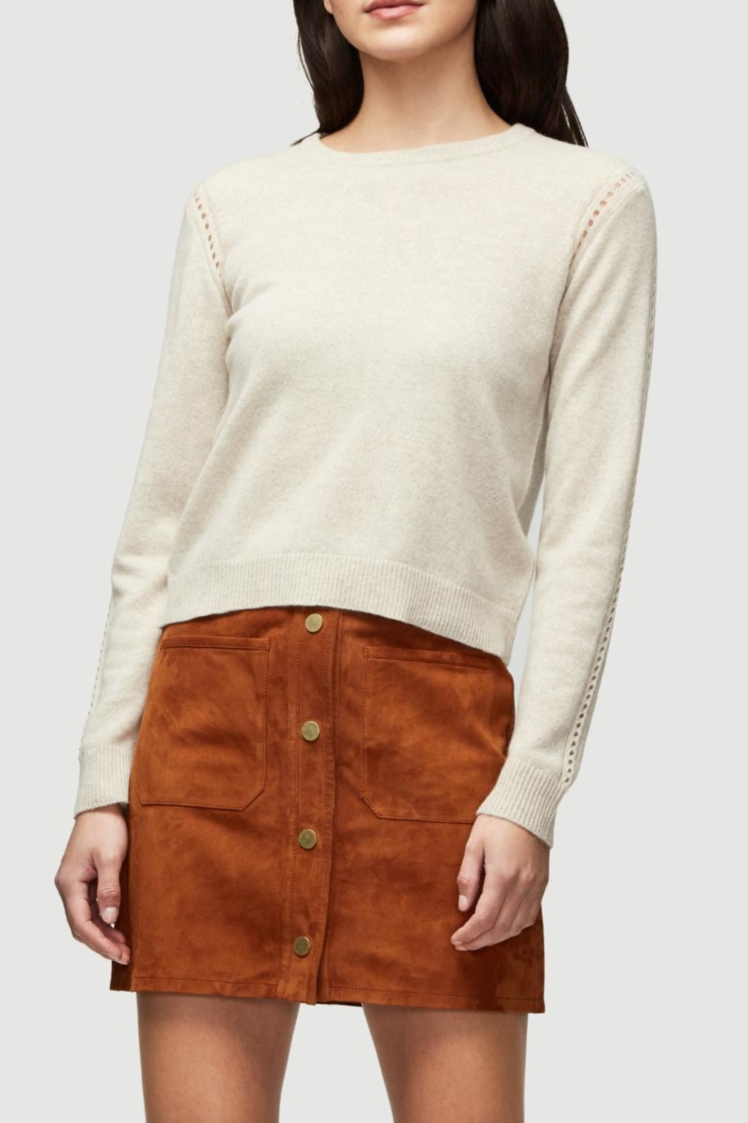 frame Oatmeal Cashmere Sweater - Main Image