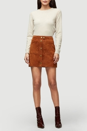 frame Oatmeal Cashmere Sweater - Front full body
