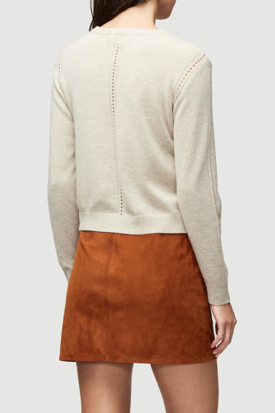 frame Oatmeal Cashmere Sweater - Side Cropped Image