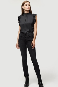 FRAME Denim Black Ruffle Top - Product List Image