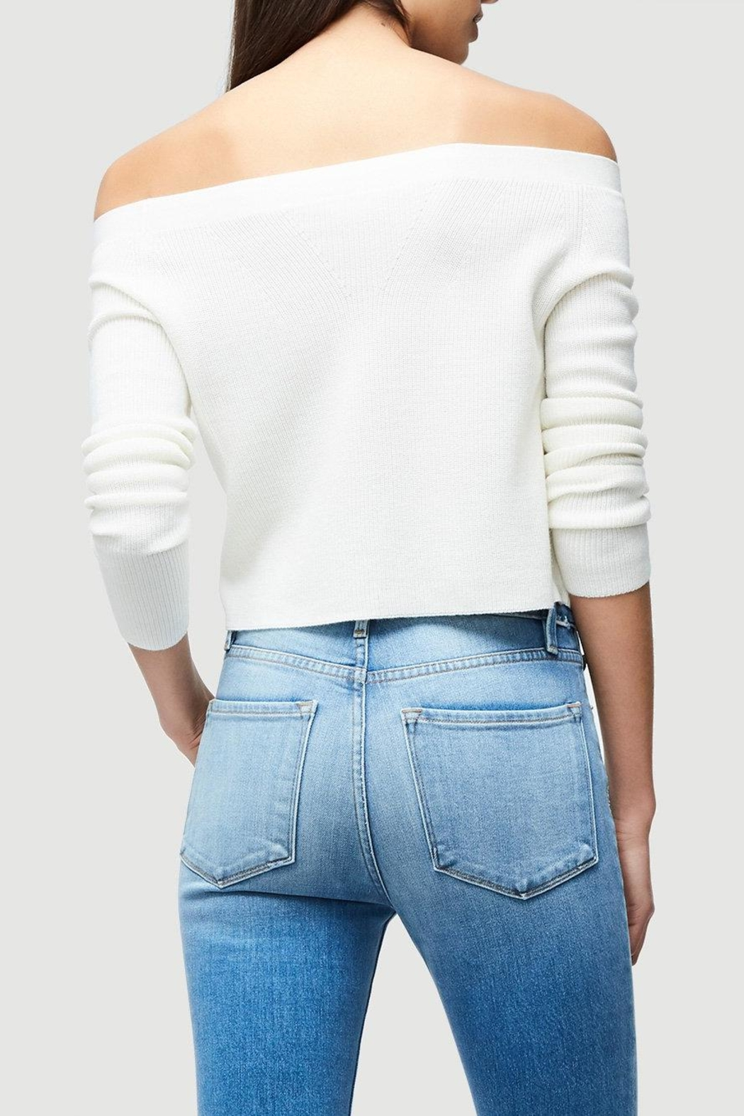 FRAME Denim Cropped Rib Sweater - Front Full Image