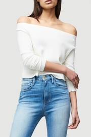 FRAME Denim Cropped Rib Sweater - Front cropped