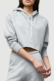 FRAME Denim Cropped Track Hoodie - Product Mini Image