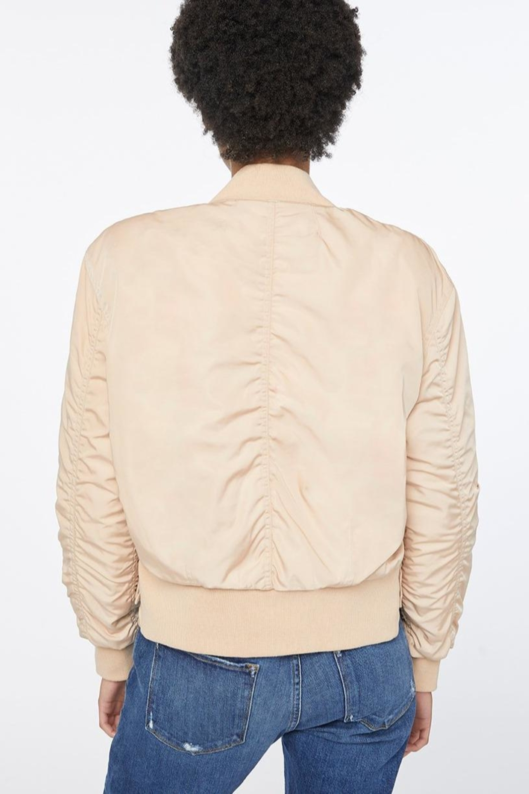 FRAME Denim Shirred Bomber - Side Cropped Image