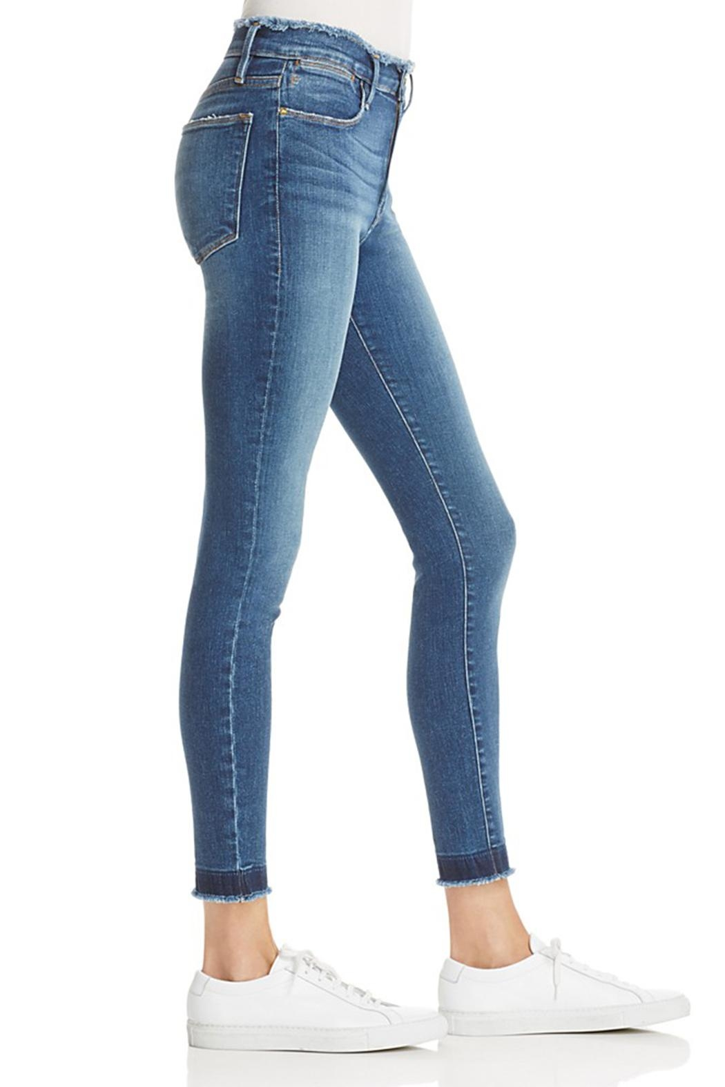 FRAME Denim Skinny Raw Edge Jeans - Side Cropped Image