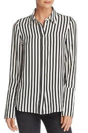 FRAME Denim Stripped Silk Blouse - Product Mini Image