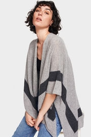 White + Warren Framed Intarsia Poncho - Product Mini Image